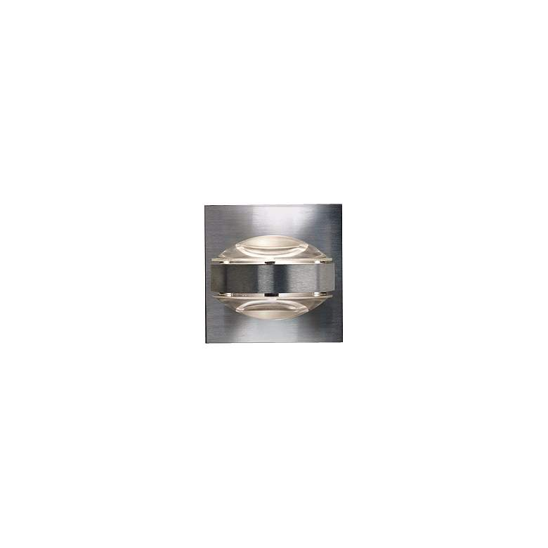 """Besa Optos 3 1/2"""" Wide Aluminum Clear Glass Wall Sconce"""