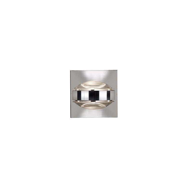 """Besa Optos 3 1/2"""" Wide Chrome Clear Glass Wall Sconce"""