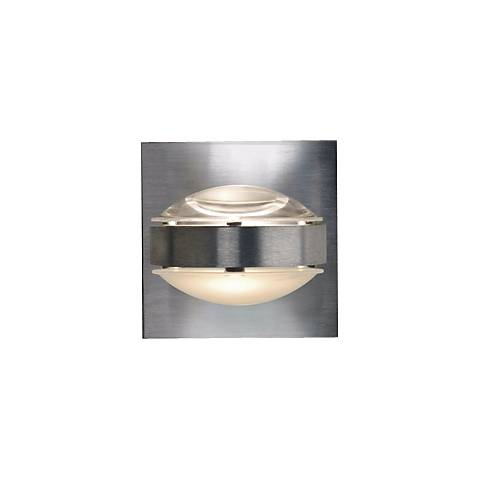 "Besa Optos 3 1/2"" Wide Aluminum Clear and Frost Wall Sconce"