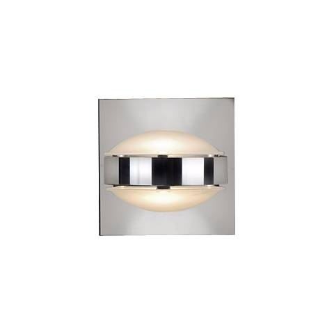 "Besa Optos 3 1/2"" Wide Chrome Frost and Frost Wall Sconce"