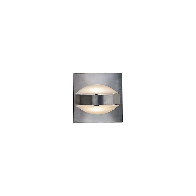 """Besa Optos 3 1/2"""" Wide Aluminum Frost and Frost Wall Sconce"""