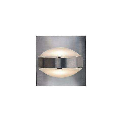 "Besa Optos 3 1/2"" Wide Aluminum Frost and Frost Wall Sconce"