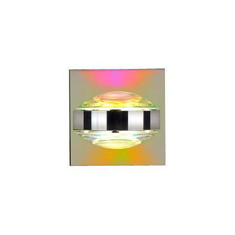 "Besa Optos 3 1/2"" Wide Chrome Cool and Warm Wall Sconce"