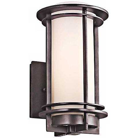 "Kichler Pacific Edge 10 1/2"" High Bronze Outdoor Wall Sconce"