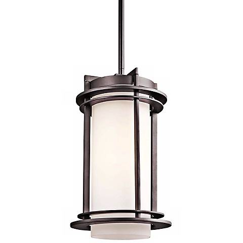 "Kichler Pacific Edge 13 1/2""H Bronze Outdoor Hanging Light"