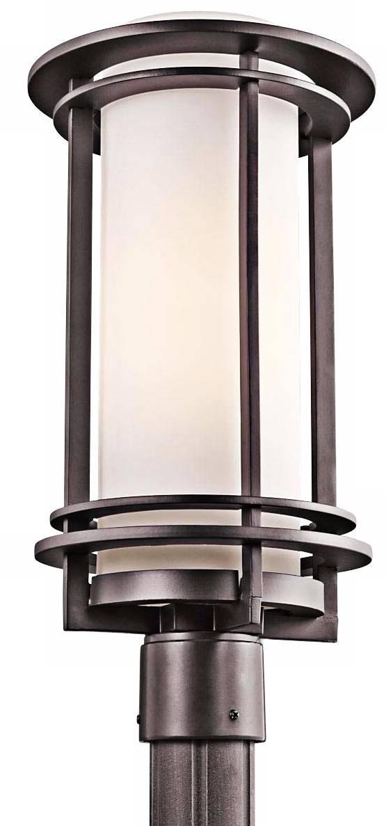 Kichler pacific edge 19 high bronze outdoor post light