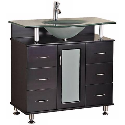 "Huntington 36"" Wide Espresso Single Sink Vanity Set"
