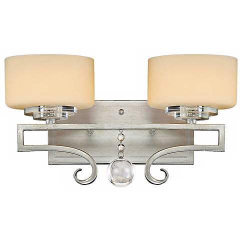 Rosendal Silver 2-Light 15 1/4 Wide Savoy House Sconce