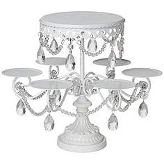 Cake Stands And Dining Room Accessories Lamps Plus - Cupcake chandelier stand crystals