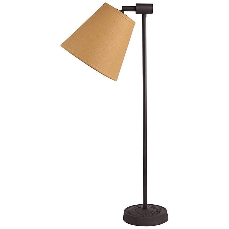 Lights Up! Zoe Dijon Tweed Antique Iron Desk Lamp
