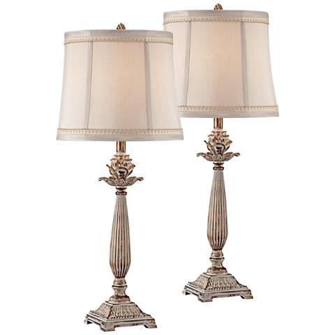 Petite Artichoke Font Table Lamp Set Of 2 W6536 W6536