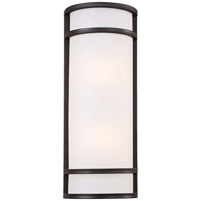 """Bay View 20"""" High Rubbed Bronze Outdoor Pocket Light"""
