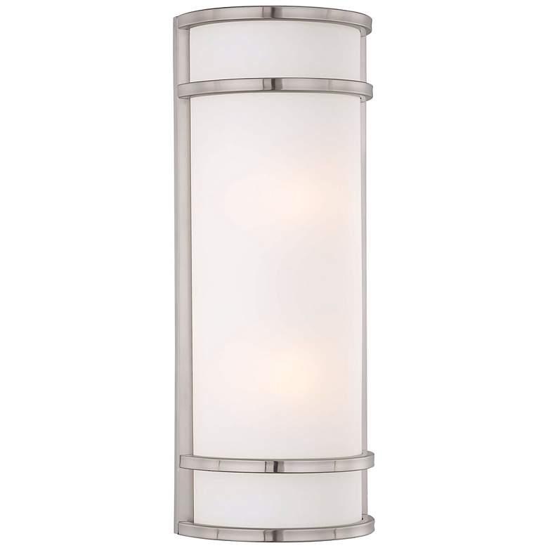 "Bay View 20"" High Brushed Steel Outdoor Pocket Light"