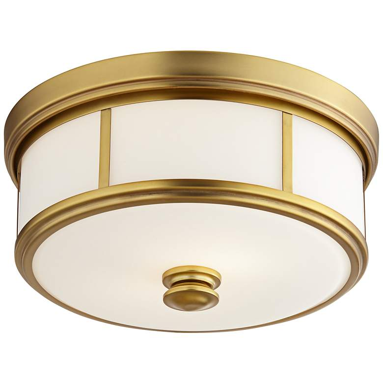 """Harbour Point 13 1/2"""" Wide Etched Opal Glass Ceiling Light"""