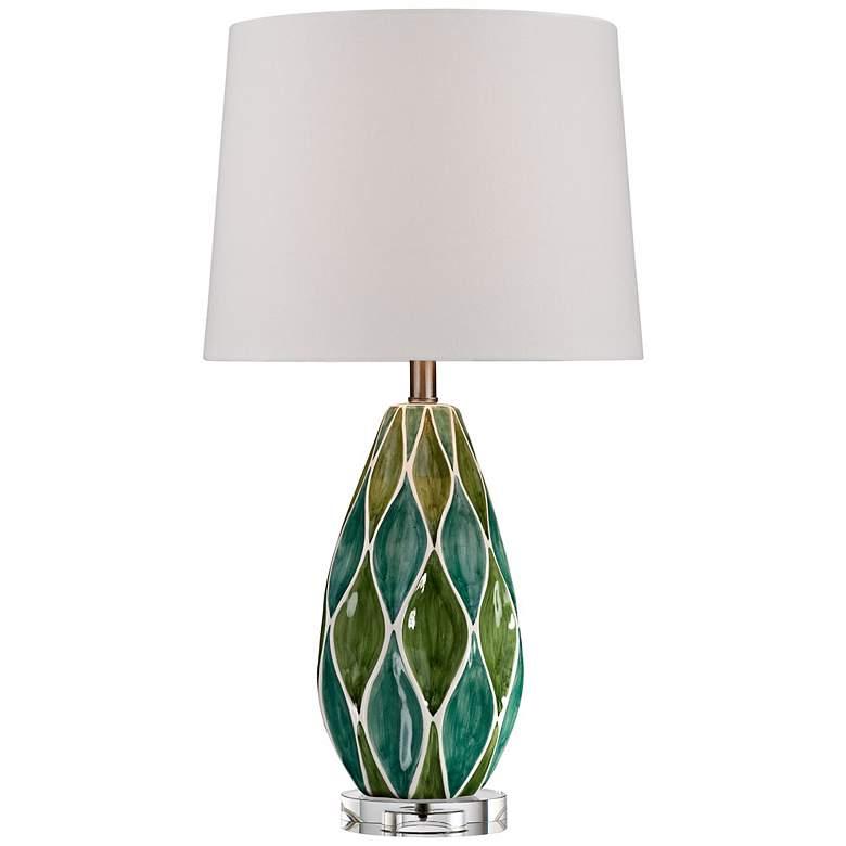 Two-Tone Green Ceramic Table Lamp