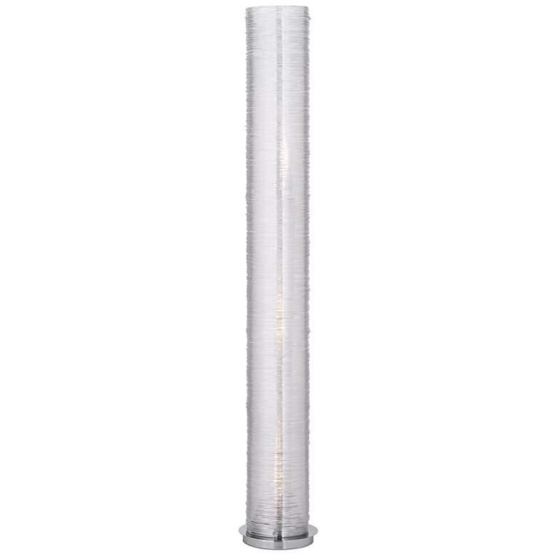 "Gossamer Clear Spun Acrylic 52"" High Cylinder Floor Lamp"