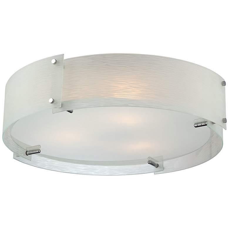 """Lite Source Kaelin Flushmount 21"""" Chrome Ceiling Light"""