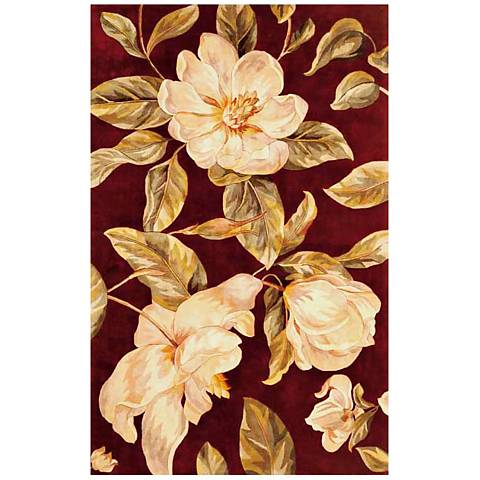 Catalina Collection Red Magnolia Area Rug