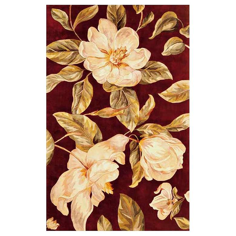 Catalina Collection Red Magnolia 5'x8' Area Rug