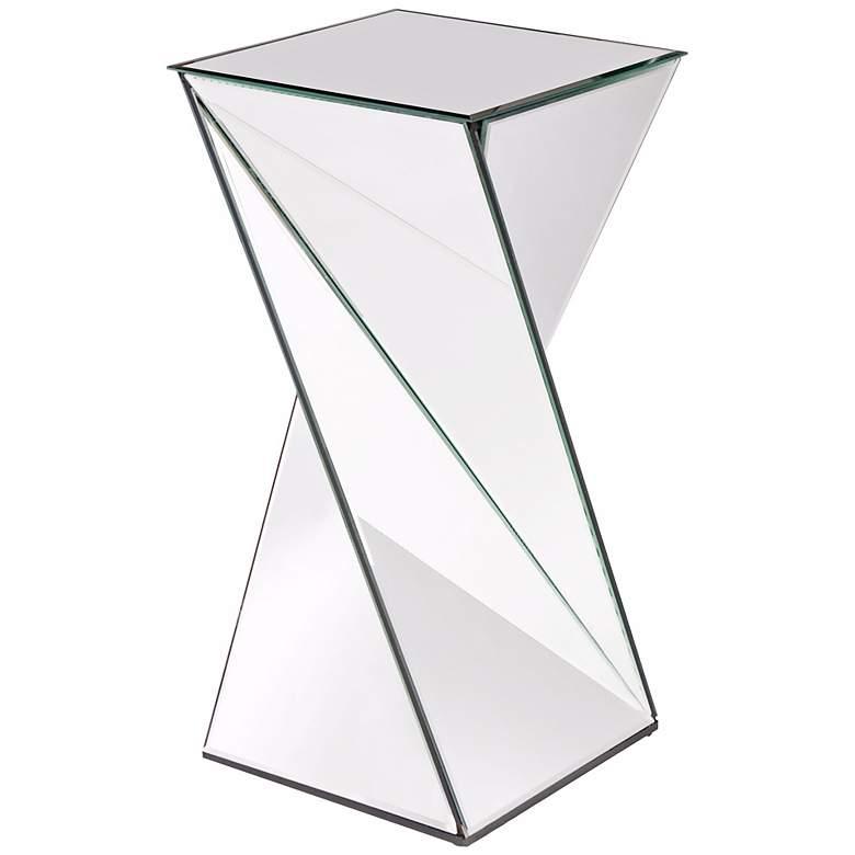 Howard Elliott Twist Mirrored End Table