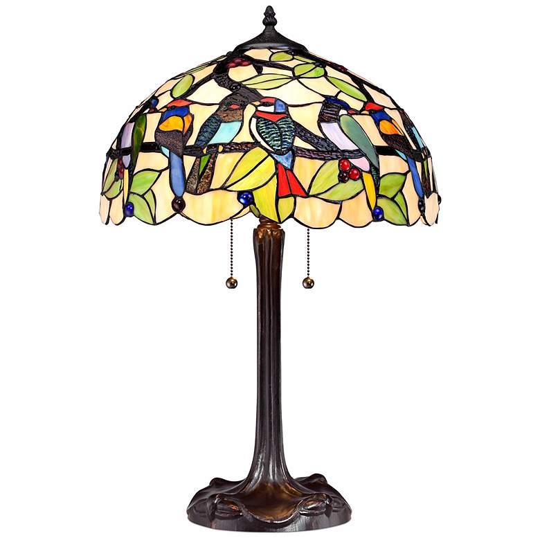 Woodland Birds Robert Louis Tiffany Table Lamp