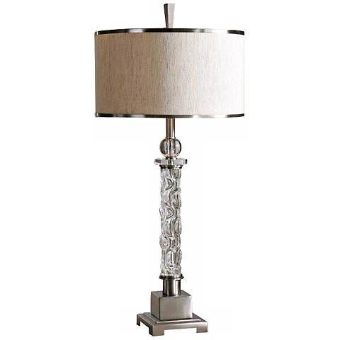 Uttermost Campania Carved Glass Table Lamp