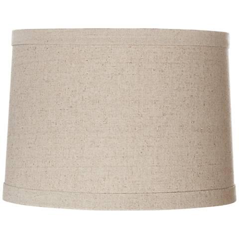 Springcrest Natural Linen Drum Shade 13x14x10 Spider