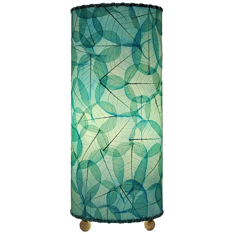 """Eangee Sea Blue 17"""" High Uplight Handcrafted Accent Table Lamp"""