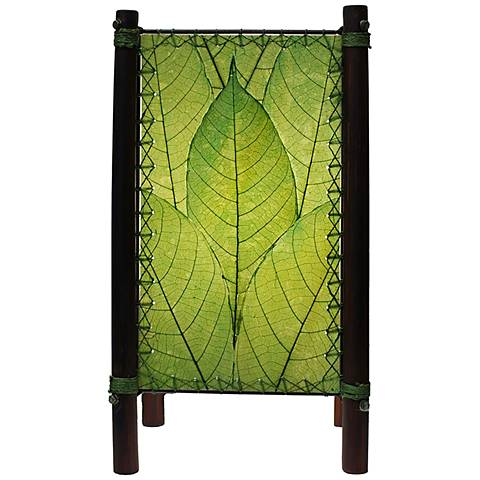 """Eangee Fortune 15"""" high Green Accent Lamp"""