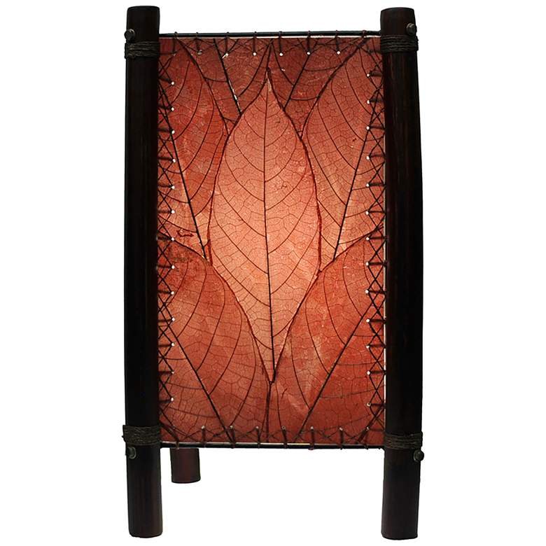 """Eangee 15"""" High Fortune Burgundy Accent Lamp"""