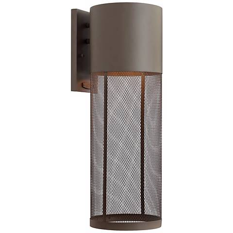 "Hinkley Aria Steel Mesh 21 3/4""H Bronze Outdoor Wall Lantern"