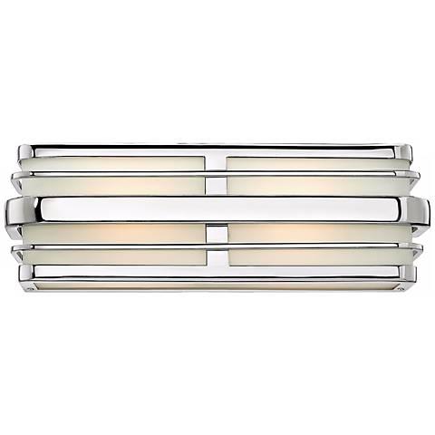 """Hinkley Winton 2-Light 15 1/2"""" Wide Chrome Vanity Light"""