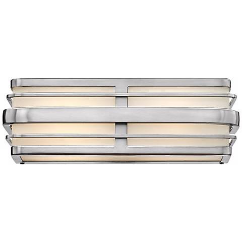 "Hinkley Winton 2-Light 15 1/2"" Wide Nickel Vanity Light"