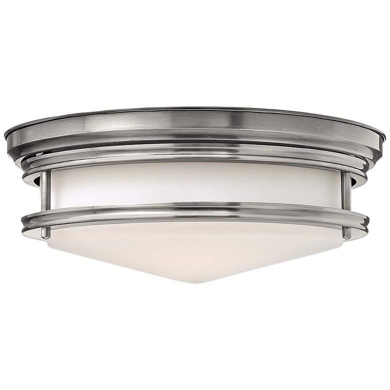 """Hinkley Hadley 14"""" Wide Antique Nickel Ceiling Light"""