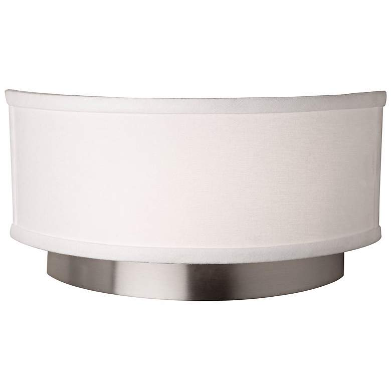 """Artcraft Scandia 12"""" Wide Brushed Nickel Wall Sconce"""