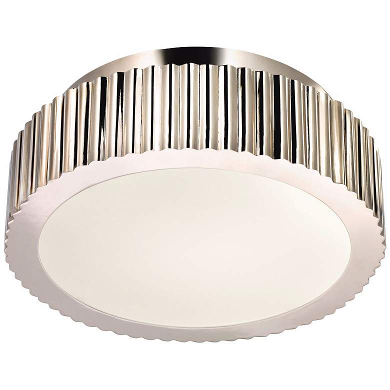 "Sonneman Paramount 12 1/2"" Wide Nickel Ceiling Light"
