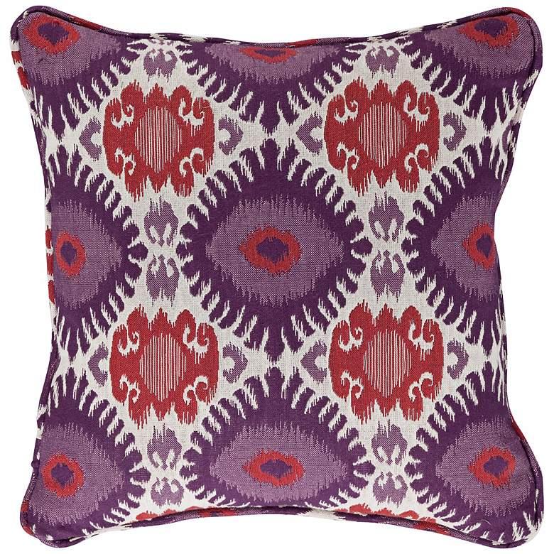 "Alara 18"" Square Berry Pillow"