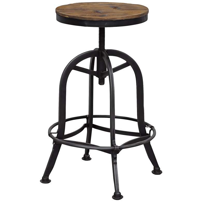 Phenomenal Akron Collection Reclaimed Wood Adjustable Bar Stool Beatyapartments Chair Design Images Beatyapartmentscom