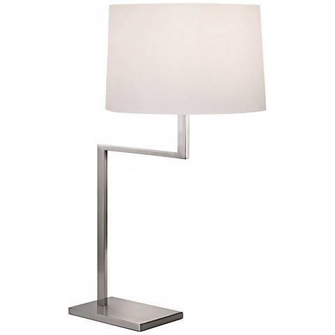 Sonneman Thick Thin Satin Nickel Table Lamp