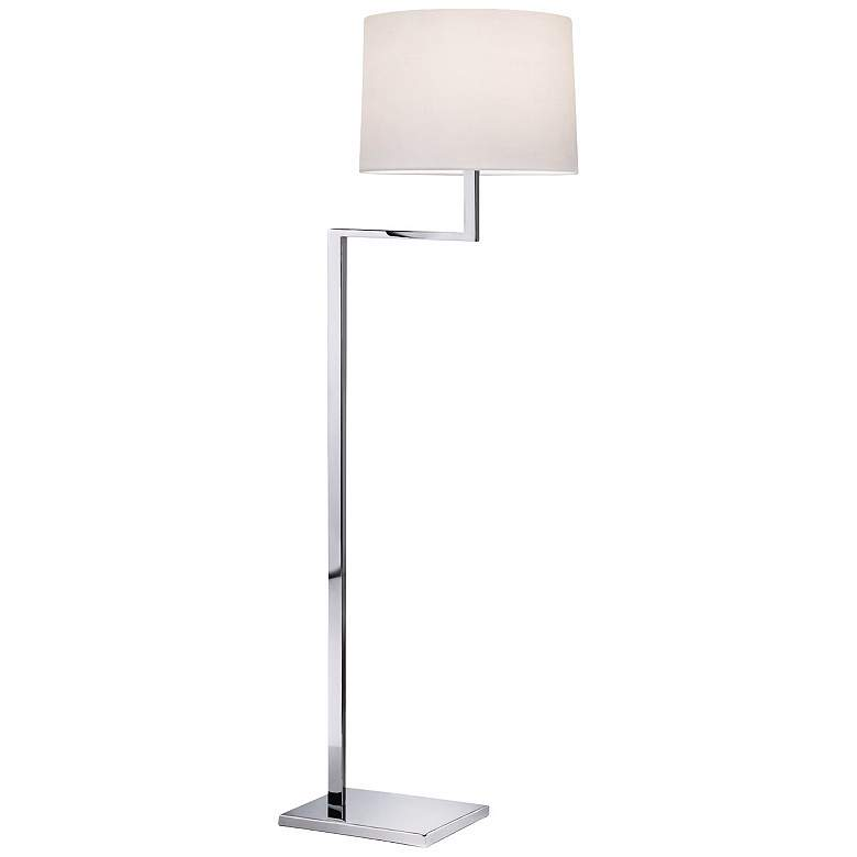Sonneman Thick-Thin Collection Polished Chrome Floor Lamp