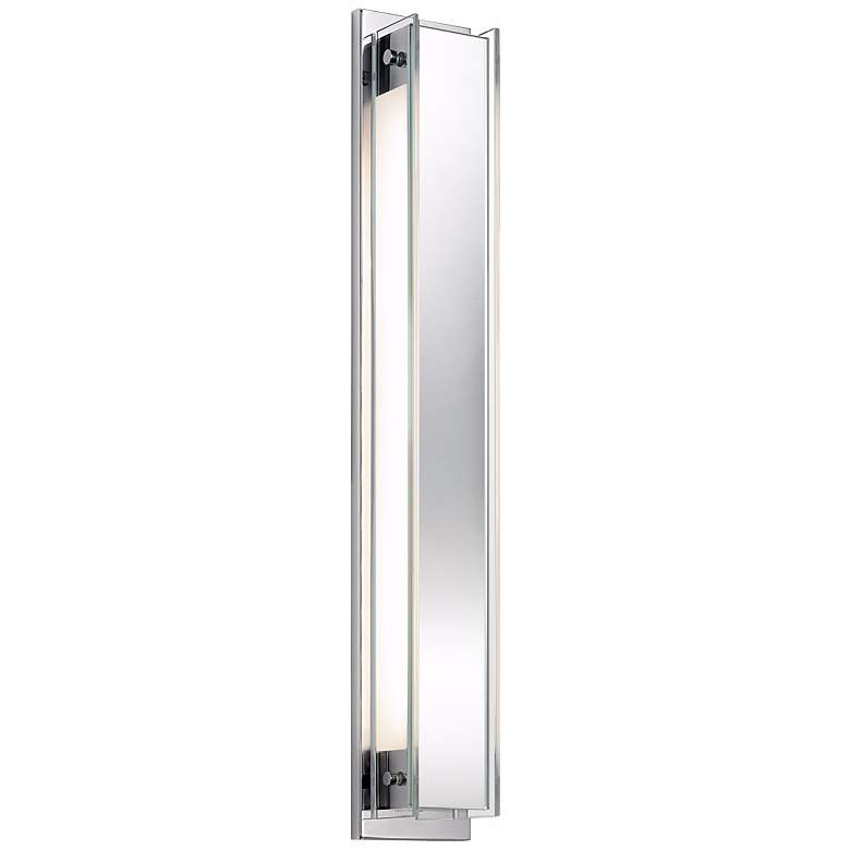 "Sonneman Accanto 28 1/2"" High Chrome Vanity Bath Light"