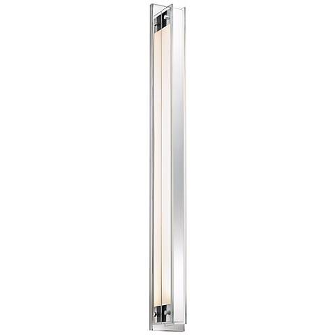 """Sonneman Accanto 40 1/4""""H Chrome Wall Sconce w/ Clear Glass"""