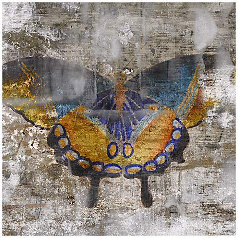 """Undergrowth I 36"""" Square Butterfly Wall Art"""