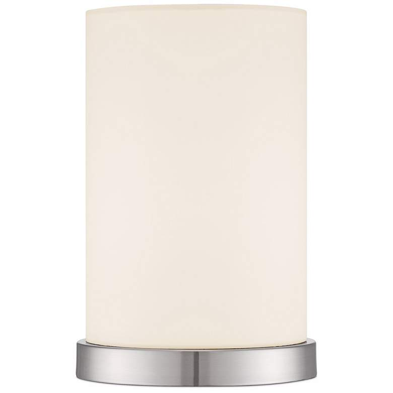 """White Cylinder 10 1/2""""H Accent Table Lamp by 360 Lighting"""