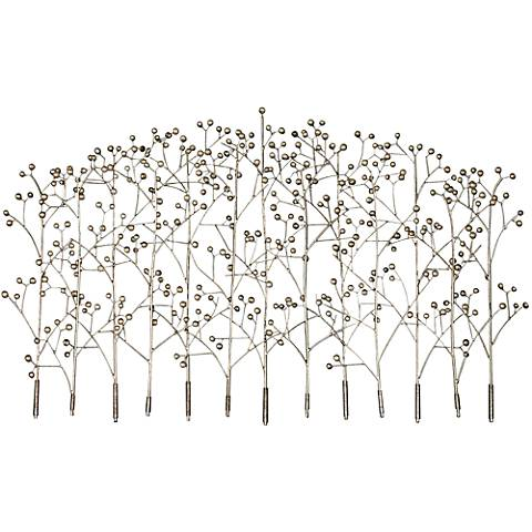 "Uttermost Iron Trees 53 1/4"" Wide Silver Wall Art"