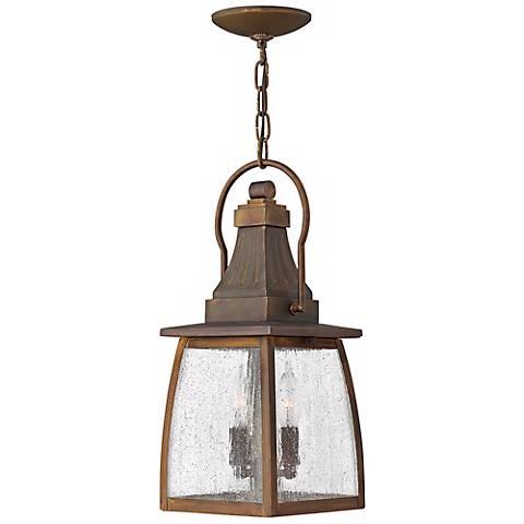 "Hinkley Montauk Sienna 17 1/4"" High Outdoor Hanging Light"