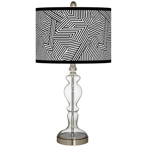 Labyrinth Giclee Apothecary Clear Glass Table Lamp