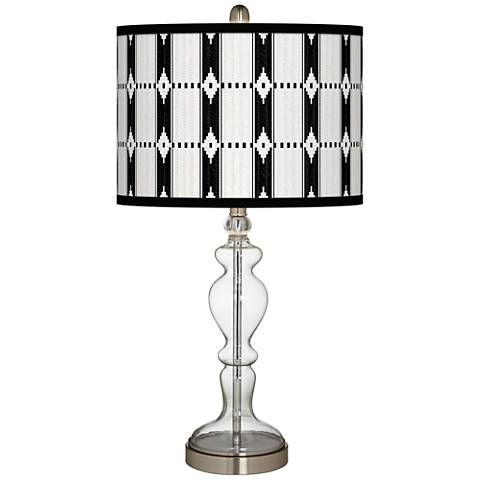 Tribal Weave Giclee Apothecary Clear Glass Table Lamp