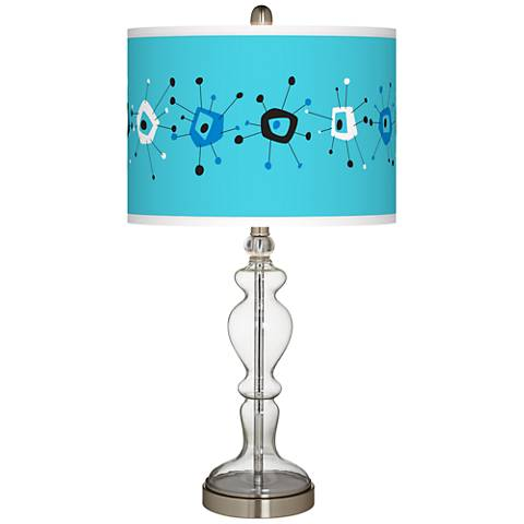 Sputnickle Giclee Apothecary Clear Glass Table Lamp