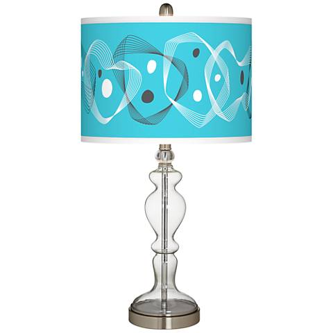 Spirocraft Giclee Apothecary Clear Glass Table Lamp